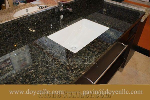Brazil Verde Ubatuba Granite Bathroom Vanity Tops Wt