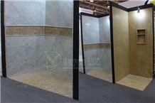 Carrara White Marble Bathroom Tubs & Surround Walling Tiles