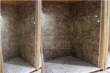 Fulri Beige Marble Bathroom Shower Tubs & Walling Designs with Tiles