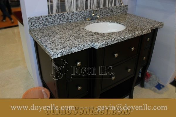 Luna Pearl G439 China Grey Granite Bathroom Vanity Top Wt