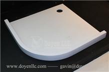 Pure White Quartz Shower Tray, Resin Shower Trays