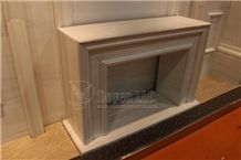 Star White Marble Handmade Caved Fireplace European & North American Styles