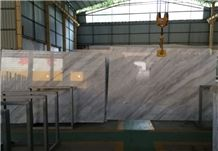 Yunnan White Marble Slab with Cross Veins, Chinese White Marble