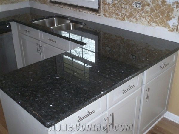 Black Pearl Granite Kitchen Countertops India Black