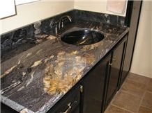 Cosmic Black Granite Bathroom Countertops From China