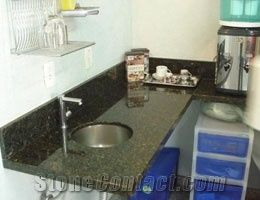 Dark Green Granite Kitchen Countertops
