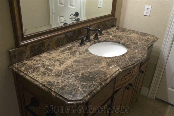 Emperador Dark Marble Bathroom Countertops Natural Brown