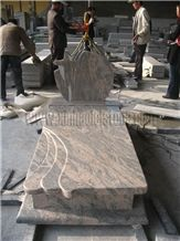 China Juparana(Pink)Granite Tombstone&Monument