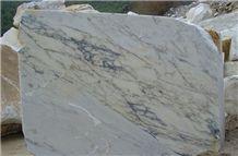 Calacatta Paonazzo Marble Block, Italy White Marble