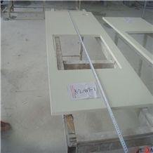 White Quartz Stone Bathroom Tops