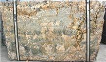 Minsk Green Gold Granite Slabs