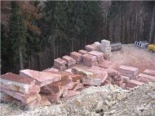 Rosa Perlino Marble Blocks, Italy Pink Marble