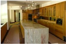 Juparana Marfim Quartzite Kitchen Countertop