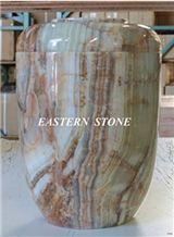 Onyx Stone Pet Urn, Ash Urn, Cremation Urn, Funeral Urn