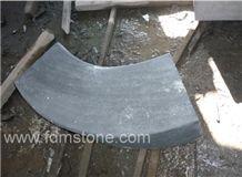 Chamferred Basalt Kerbstone, Curved G684 Kerbstone