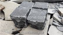 Natural Split Hainan Basalt Cobble Stone,Black Basalt Cube Stone & Pavers,Cobblestone Paving Sets Natural Split for Walkway/Driveway/China Black Basalt Outdoor Paving