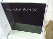 Polished G684 Basalto Cut to Size,Jet Black Basalt Paver Tiles Slab for Walling and Flooring