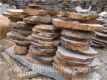 Zhangpu Andesite Basalt Flamed Flagstone, Machine Cut Black Basalt Patio, Random Andesite Sawn Flagstone Driveway Bushhammered Pavers