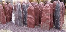 Rossa Laguna Marble Monolith, Rosso Laguna Red Marble Monolith