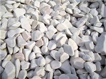 Tumbled Bianco Dolomite Marble Gravel
