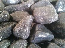 Tumbled Black Basalt Pebble & Gravel