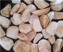 Tumbled Riviera Sunshine Marble Gravel