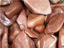 Tumbled Rosso Laguna Marble Pebble & Gravel