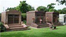 Mausoleum Design with Select Mahogany Granite Mausoleum & Columbarium