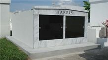 Olympian White Danby Marble Mausoleum