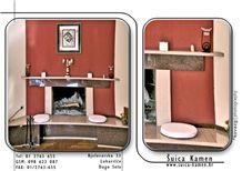 Rosa Raveno Granite Fireplace