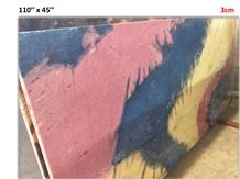 Art Marble Multicolor Slab 100 Natural Crystaline Stone, Arts Marble