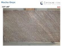 Mocha Onyx Slab 100 Natural Translucent Crystaline Stone