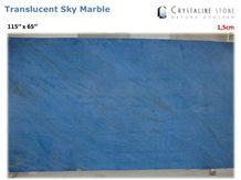 Sky Blue Marble Slab 100 Natural Translucent Crystaline Stone, Sky Blue Marble