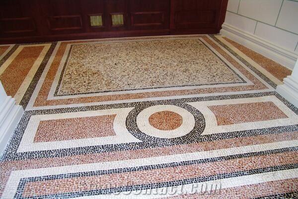 Inlaid Terrazzo And Roman Mosaic Floor From Hungary