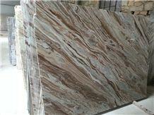Bianco Brown Marble Slabs