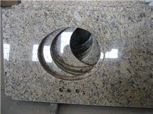 Giallo Ormetal Granite Bathroom Vanity Tops, Grey Granite Kitchen Countertops