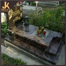 Tombstone Inscriptions, Brown Granite Monument & Tombstone