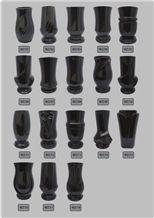 Val Kilmer Tombstone Urn, Vase, Black Granite Urn, Vase