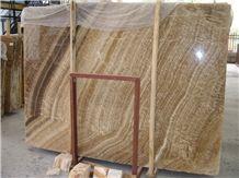 Wood Grain Onyx Slabs & Tiles,China Brown Onyx