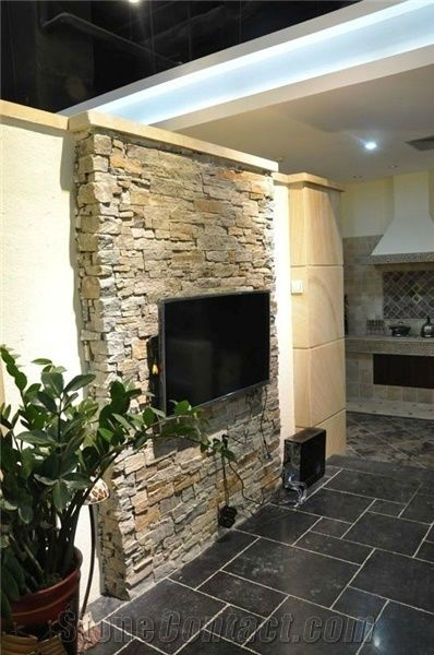 Tv Wall Slate Culture Stone Wall Panel From China