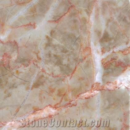 Red Vein Beige Marble From China Stonecontact Com