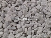 Natural Snow White Marble Gravel,White Crushed Stone