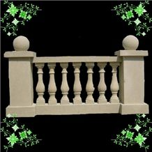 Beige Marble Stair Handrail