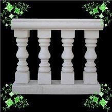 Chinese White Marble Balustrade Handrails