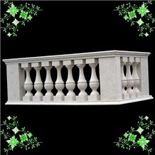 Handcarved White Marble Handrails, Pure White Marble Handrails