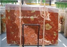 Multicolor Red Onyx Slabs & Tiles