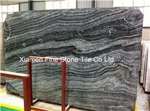 Antique Wood Grain Black Serpentine Marble Slabs & Tiles,Black Wood Vein Marble Slabs