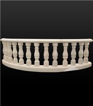 White Marble Balustrade Railing Balcony