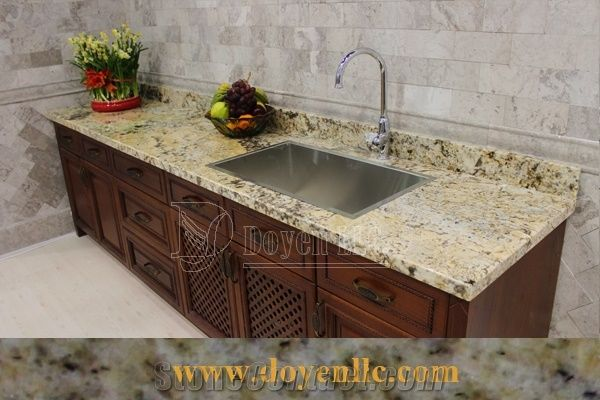 Antique Persa Gold Granite Kitchen Countertops With