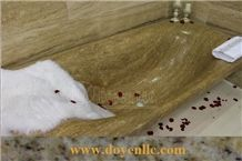 Beige Travertino Romano Bathtub & Walling Tile,Travertino Romano Travertine Bathtubs
